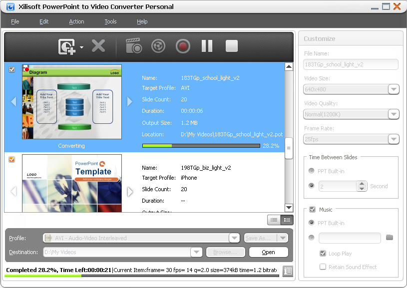 Xilisoft convertidor de PowerPoint a Vídeo